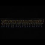 LEDケサランスターカーテンライトゴールド&ホワイト (044603)