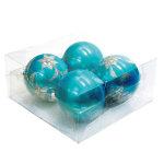 パールカラーボール100mm4個入 ブルー (043900)