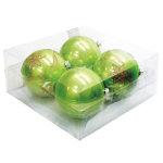 パールカラーボール100mm4個入 グリーン (043903)