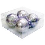 パールカラーボール100mm4個入 パープル (043904)
