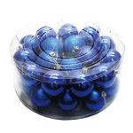 オーナメントメタリックボール60mm32個入 ブルー (043905)