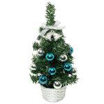 20cmデコレーションツリー ブルー (43596)