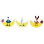 スマイルクリスマスウッドムーン 3個セット (044444)
