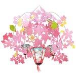 ぼんぼり桜2段ドロップ (10235)