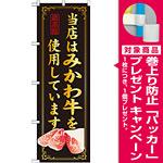 のぼり旗 当店はみかわ牛を使用 (SNB-50) [プレゼント付]