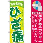 のぼり旗 ひざ痛 イエロー/グリーン (GNB-1040) [プレゼント付]