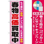 のぼり旗 春物高価買取中 (GNB-1209) [プレゼント付]