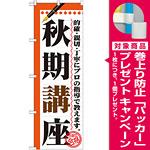 のぼり旗 秋期講座 (GNB-1564) [プレゼント付]