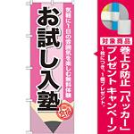 のぼり旗 お試し入塾 (GNB-1575) [プレゼント付]