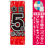 のぼり旗 本日5倍ポイント (GNB-1699) [プレゼント付]