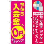 のぼり旗 今なら入会金0円 今がチャンス (GNB-2129) [プレゼント付]