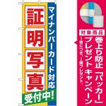 のぼり旗 証明写真受付中(マイナンバー) (GNB-2751) [プレゼント付]