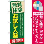 のぼり旗 無料体験 お試し入塾 (GNB-65) [プレゼント付]