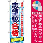のぼり旗 志望校合格 (GNB-68) [プレゼント付]
