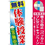 のぼり旗 無料 体験授業 実施中 (GNB-778) [プレゼント付]