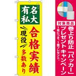 のぼり旗 有名私大 合格実績 現役多数あり (GNB-781) [プレゼント付]
