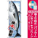 のぼり旗 かつお (イラスト) (SNB-1548) [プレゼント付]