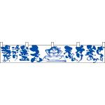 うどん湯だめ冷かけ釜玉 カウンター横幕 W1750mm×H300mm  (21882)