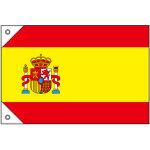 販促用国旗 スペイン サイズ:ミニ (23655)
