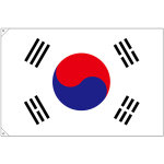 販促用国旗 韓国 サイズ:大 (23693)
