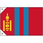販促用国旗 モンゴル サイズ:ミニ (23703)