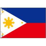 販促用国旗 フィリピン サイズ:ミニ (23718)