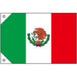 販促用国旗 メキシコ サイズ:ミニ (23730)