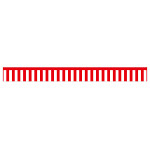 紅白幕 トロピカル 高さ700mm×4間(幅7200mm)(23939)
