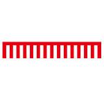紅白幕 トロピカル 高さ900mm×3間(幅5400mm)(23942)