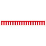 紅白幕 トロピカル 高さ900mm×5間(幅9000mm)(23944)