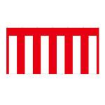 紅白幕 トロピカル 高さ1800mm×2間(幅3600mm)(23945)