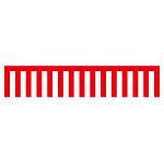 紅白幕 トロピカル 高さ1800mm×5間(幅9000mm)(23948)