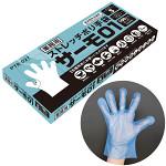 食品衛生法適合 ソフトプラスチック ストレッチポリ手袋(TPE製) 6000枚入 ブルー Sサイズ