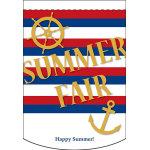 Summer Fair (ボーダー) アーチ型 ミニフラッグ(遮光・両面印刷) (61050)