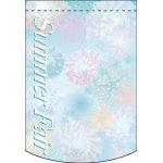 Summer Fair (シェル) アーチ型 ミニフラッグ(遮光・両面印刷) (61054)