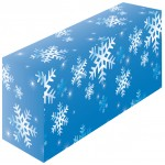 テーブルカバー 柄 雪 サイズ:W1800×H700×D600 (61536)