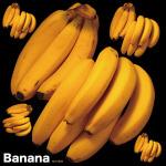 バナナ 看板・ボード用イラストシール (W285×H285mm)