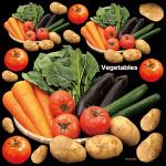 野菜(トマト・じゃがいも等)看板・ボード用イラストシール (W285×H285mm)