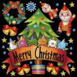 メリークリスマス4 看板・ボード用イラストシール (W285×H285mm)