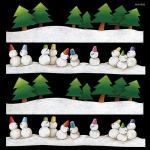 冬 雪 看板・ボード用イラストシール (W285×H285mm)