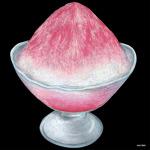 デコシール かき氷 サイズ:ビッグ W600×H600 (61869)