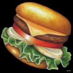 デコシール ハンバーガー サイズ:ビッグ W600×H600 (61872)