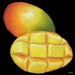 デコシール マンゴ サイズ:ビッグ W600×H600 (61876)