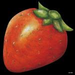 デコシール イチゴ サイズ:ビッグ W600×H600 (61882)