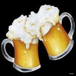 デコシール ビール (ジョッキ) サイズ:レギュラー W285×H285 (61982)