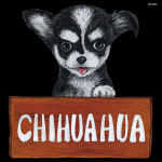 デコシール 犬 チワワ サイズ:ビッグ W600×H600 (61912)