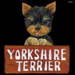 デコシール 犬 ヨークシャテリア サイズ:レギュラー W285×H285 (61996)