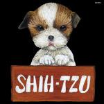 デコシール 犬 シーズ サイズ:ミニ W100×H100 (62066)