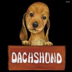 デコシール 犬 ダックスフンド サイズ:ビッグ W600×H600 (61918)