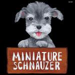 デコシール 犬 ミニチュアシュナウザー サイズ:ビッグ W600×H600 (61919)